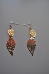 bay to baubles leaf earrings