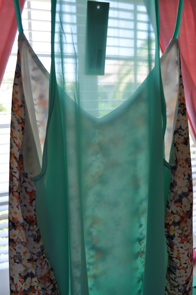 sheer back racerback tank